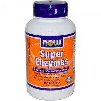 Super Enzymes 90 таблетки Now Foods